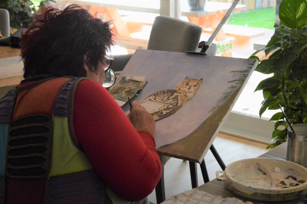 Activiteit schilderen Inloophuis Sociale Huiskamer